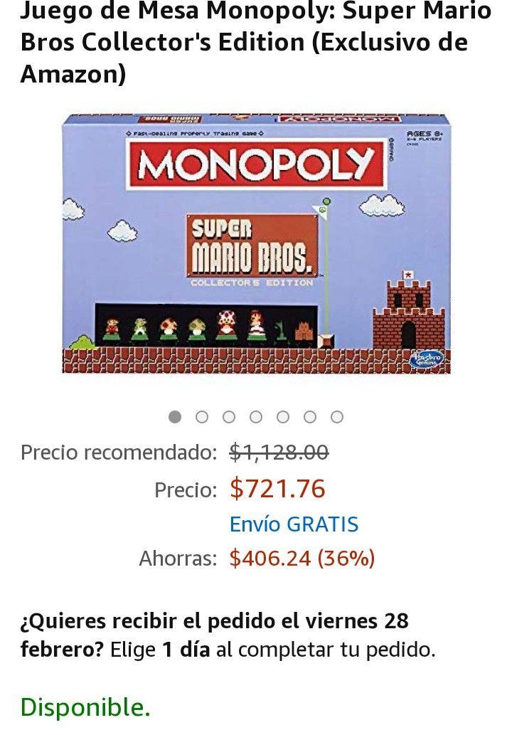 Amazon: Juego de Mesa Monopoly: Super Mario Bros Collector's Edition (Exclusivo de Amazon)