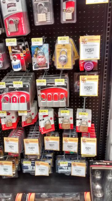 Walmart Mérida Montejo: ofertas en candados Master y cerraduras para baño y otros