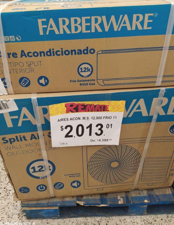 Bodega Aurrerá: Aire Acondicionado Farberware 12K