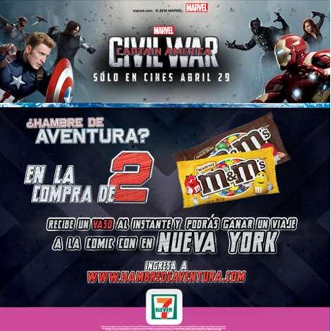 7 Eleven: vaso de Capitán America Civil War gratis comprando 2 chocolates