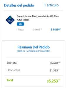 Sam's Club: Moto g8 plus