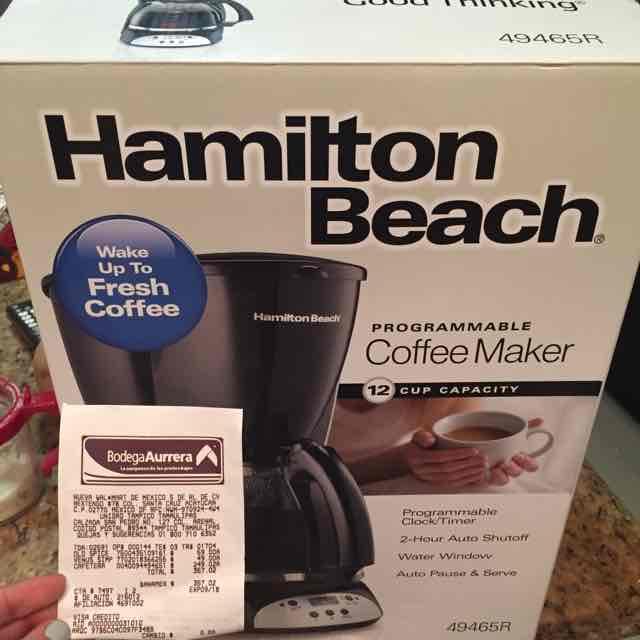 Bodega Aurrerá: cafetera Hamilton Beach programable de 12 tazas a $249.02