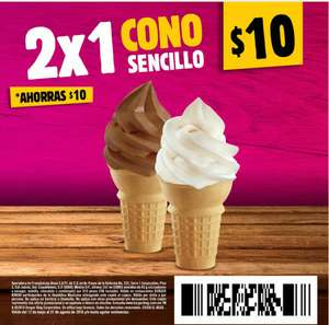 Burger King App: Cono sencillo 2x1