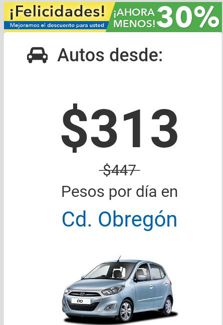 Mexico Car Rental: 30% de descuento