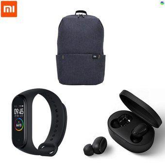 Linio: Xiaomi Combo Audífonos (Redmi Airdots) + Mi Band 4 + Mochila Negro (Pagando con Paypal)