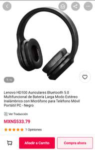 Gearbest: Lenovo HD100 Auriculares Bluetooth 5.0