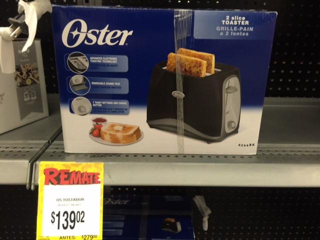 Bodega Aurrerá 8 de Julio: tostadora Oster de $280 a $139.02