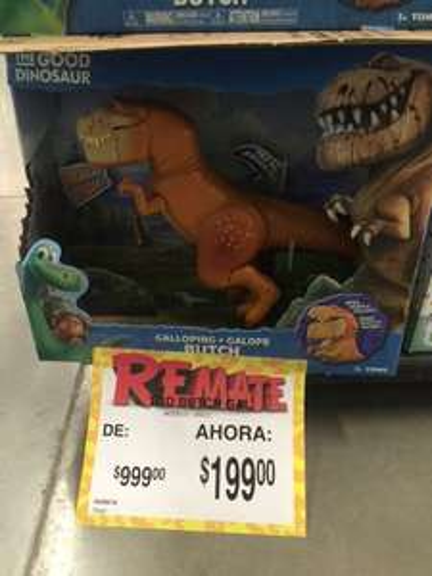 Bodega Aurrerá Tlajomulco: Juguete The Good Dinosaur Butch 80% desc. a $199