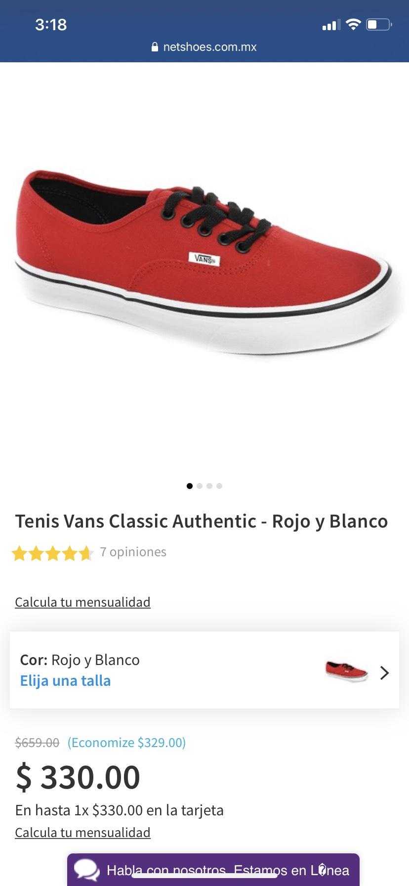 Netshoes: Vans rojos