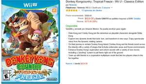 Amazon: Donkey Kong Country Tropical Freeze a $424