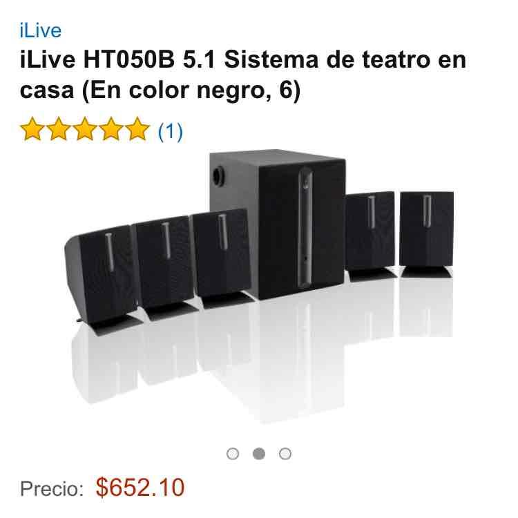 Amazon: iLive HT050B 5.1 Sistema de teatro en casa a $652
