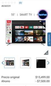 "Costco: Smart TV TCL 55"" Android Tv. 55A527"