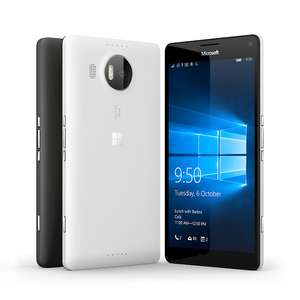 Amazon: Microsoft Lumia 950 XL LTE con Windows 10, 3 gb RAM, 32 gb internos y reconocimiento de iris