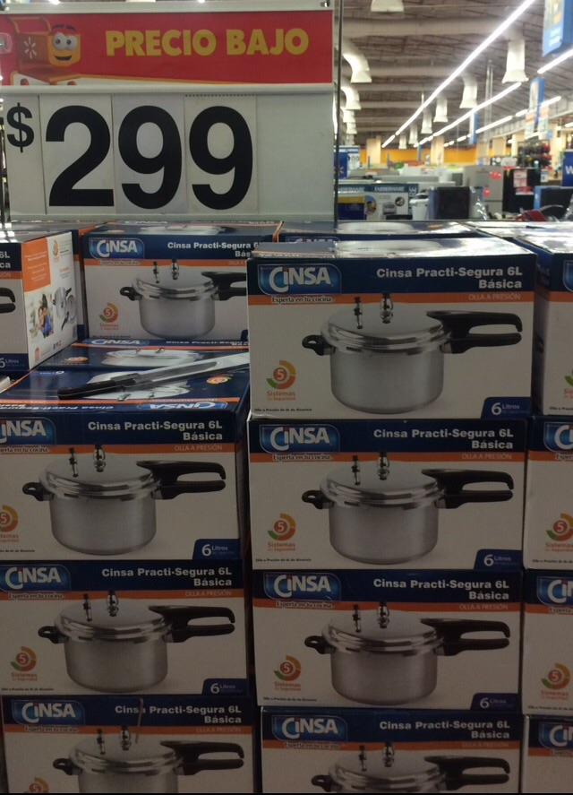 Walmart Universidad: Olla express 6L a $299