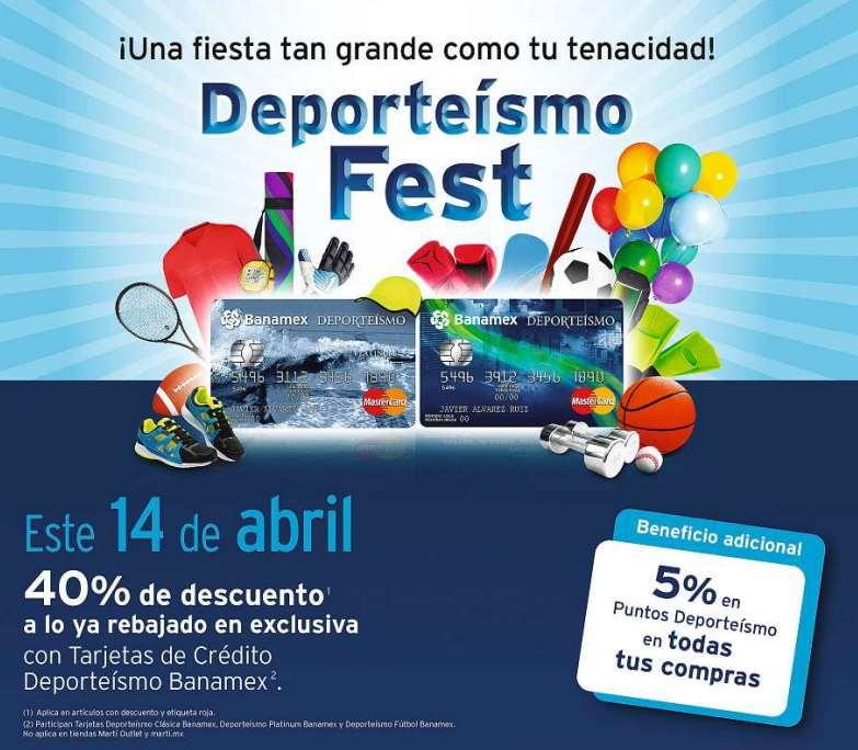 Martí Deporteísmo Fest el 14 de abril