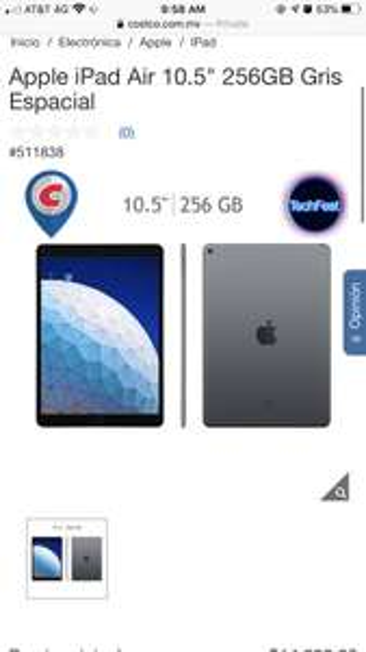 Costco: iPad Air 3 (2019) 256 GB