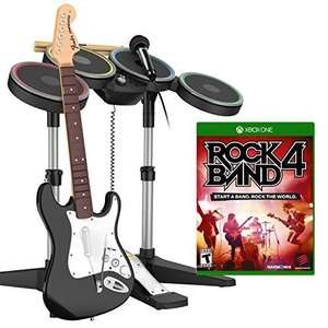 Level Up: Rock Band 4 Software + Bundle Bateria y Guitarra a $3,250