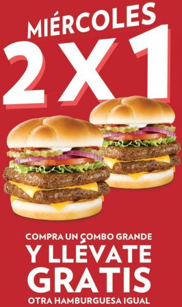 Wendy's: 2x1 en combos grandes los miércoles