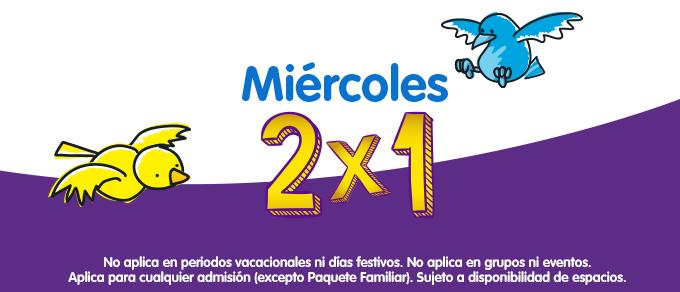 Papalote Museo del Niño 2x1 los Miércoles