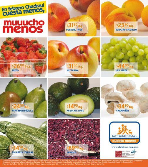 Miércoles de frutas y verduras en Chedraui febrero 27: naranja $1.90 Kg y más