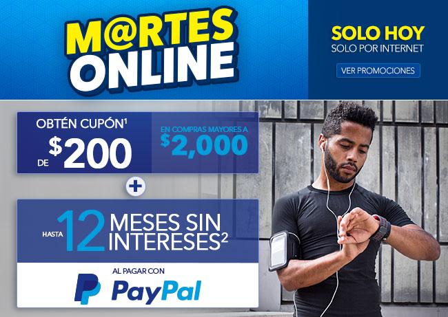 Best Buy en línea: Martes Online con Paypal, 12 meses y $200 en cupón