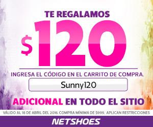 Netshoes: cupón de $120 de descuento (mín $999)