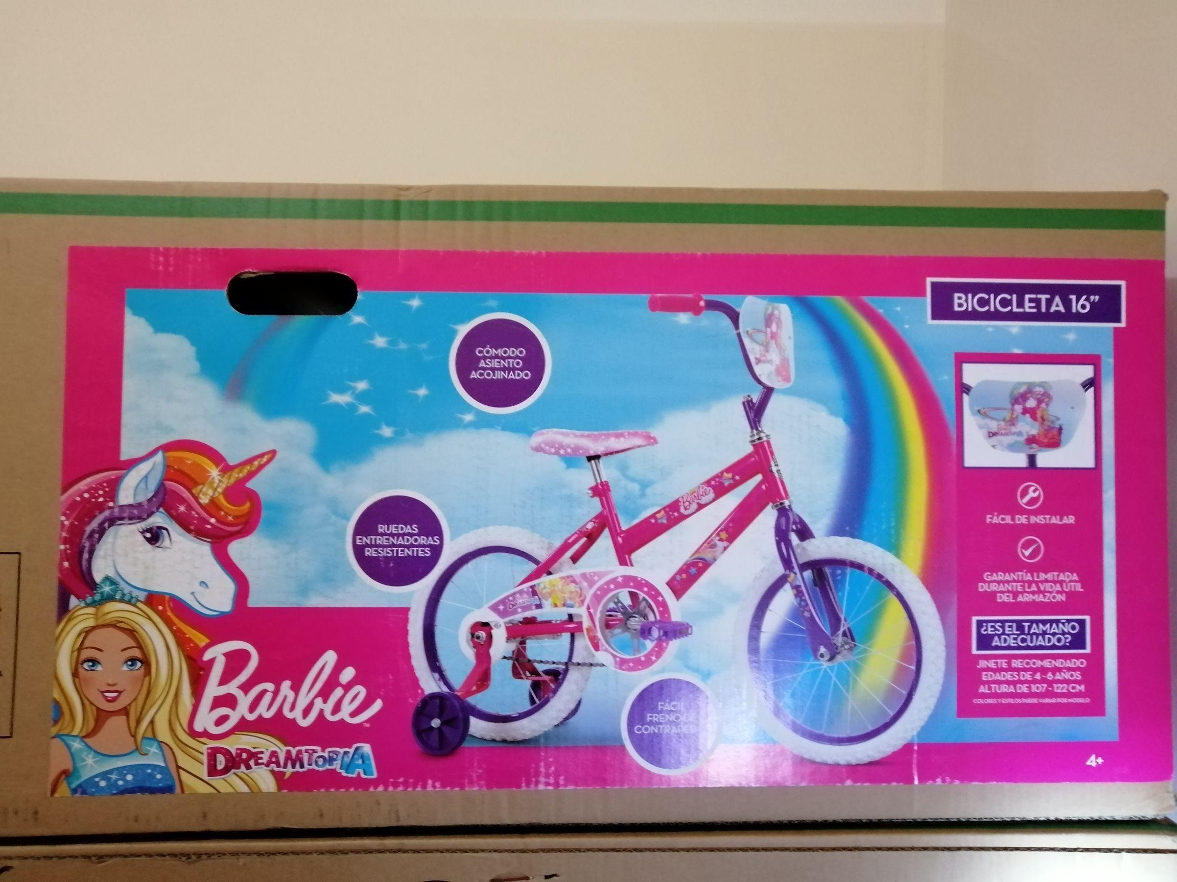 Bodega Aurrerá: Bicicleta barbie rodada 16 y Set de basket para niños