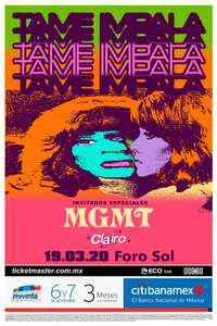 Ticketmaster Concierto Tame Impala CDMX en General A