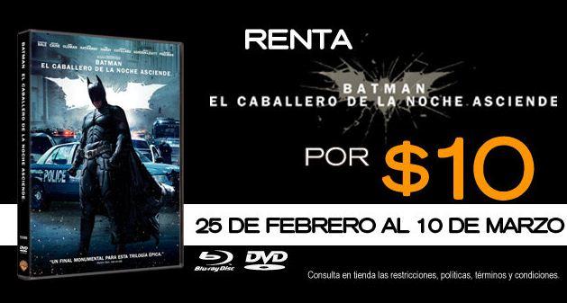 Blockbuster: renta Batman El Caballero de la Noche Asciende a $10