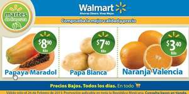 Martes de Frescura Walmart febrero 26: pechuga fresca $34.90, naranja $3.40 y +