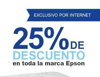Office Depot en línea: 25% en toda la marca Epson y meses sin intereses