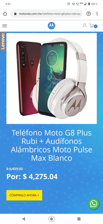 Motorola Varios descuentos ejemplo: moto one hyper 5919 más audífonos inalambricos
