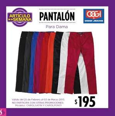 Artículo de la semana en Suburbia: pantalón para dama $195