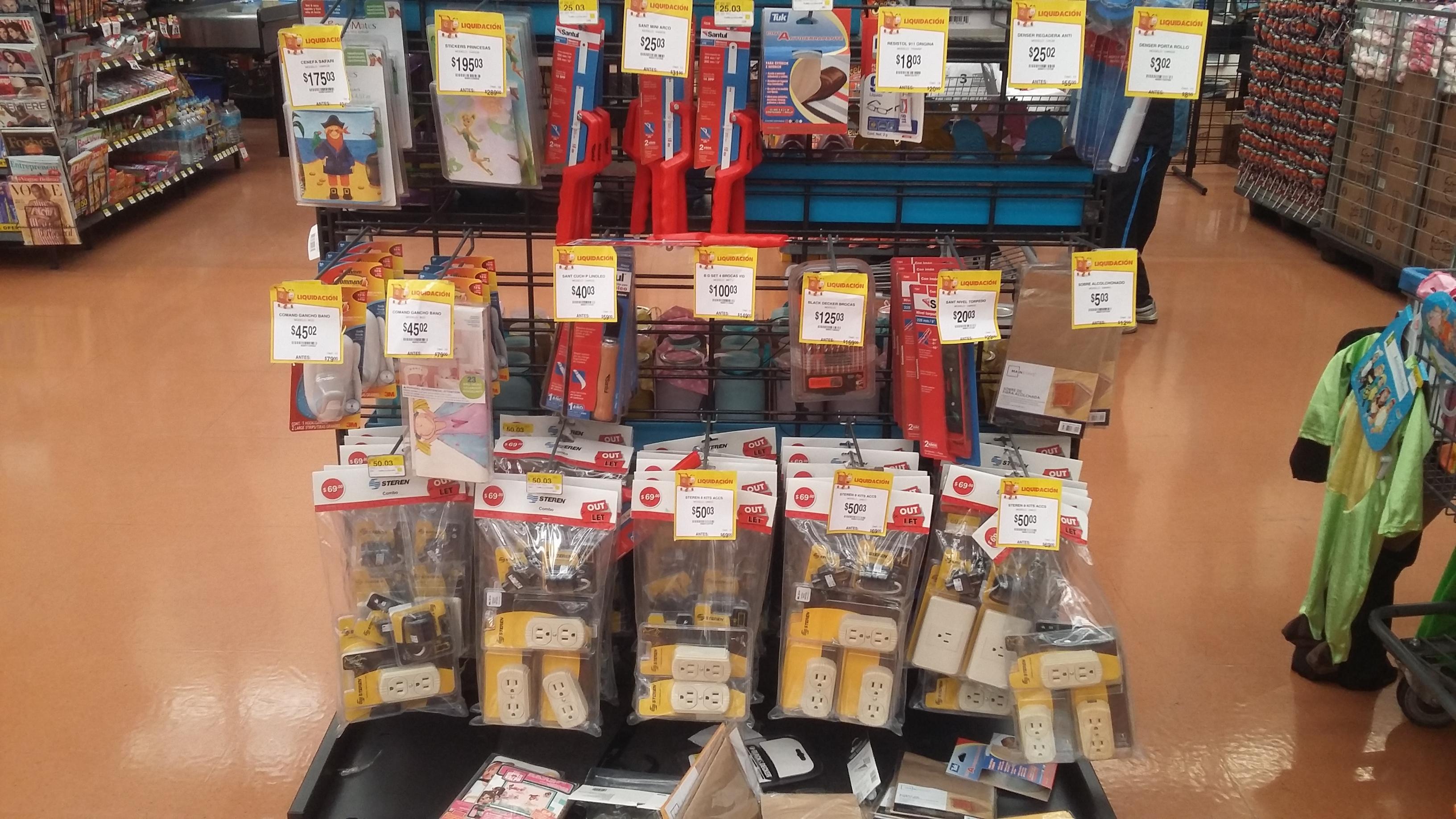 Walmart Lindavista: liquidacion en diferentes artículos