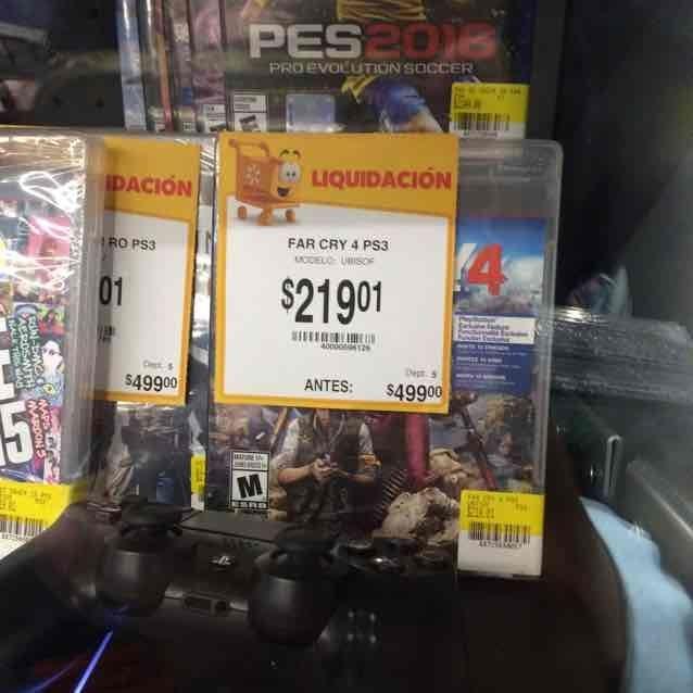 Walmart Puebla 15 de Mayo: Far Cry 4 para PS3 a $219.01
