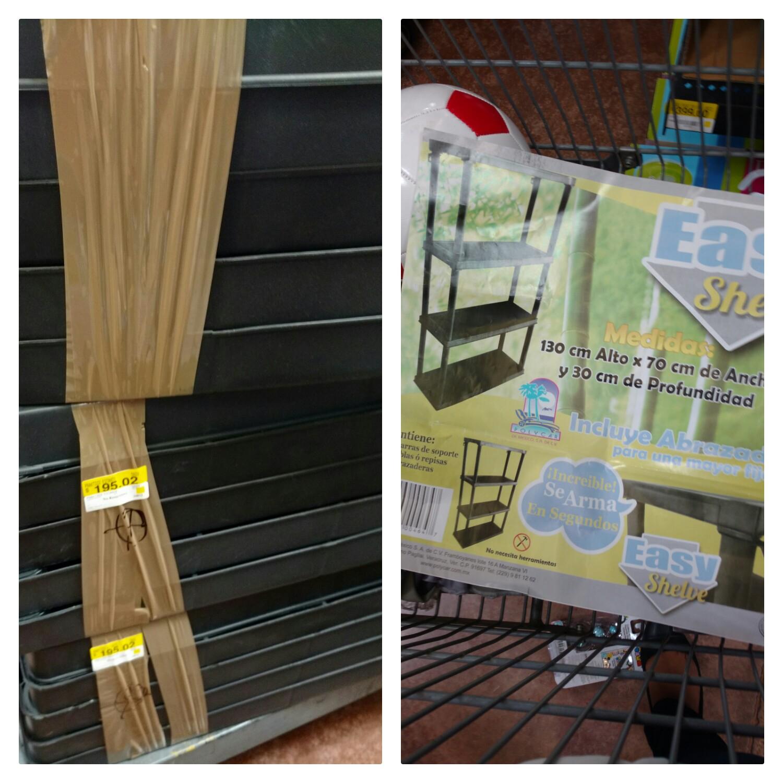Walmart Tuxtla: estante de plástico Easy Shelves a $195 y más