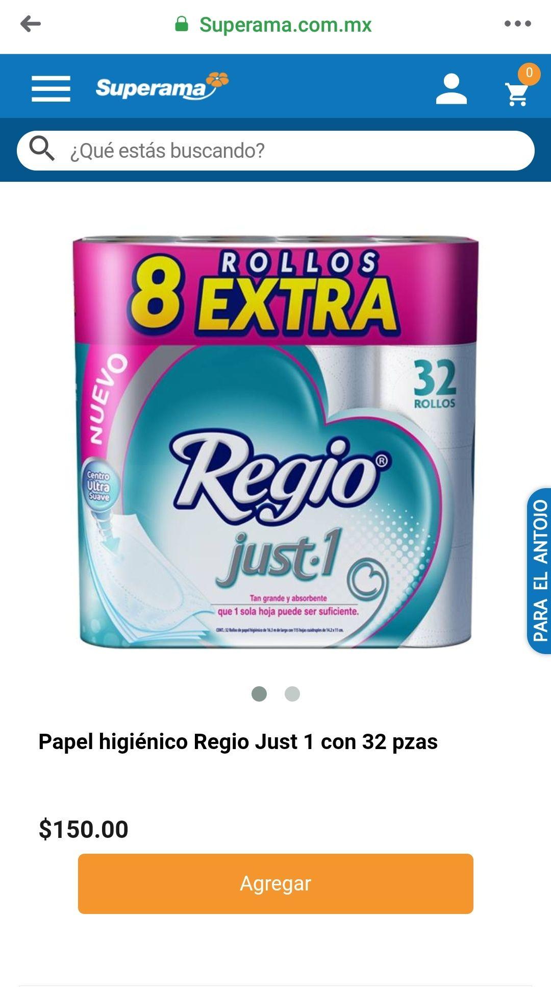 (Superama) Papel Higiénico Regio Just1 - en línea