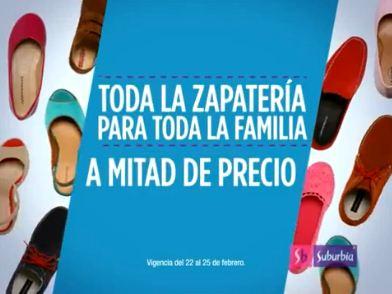 Suburbia: 2x1 y medio en zapatos y tenis para toda la familia