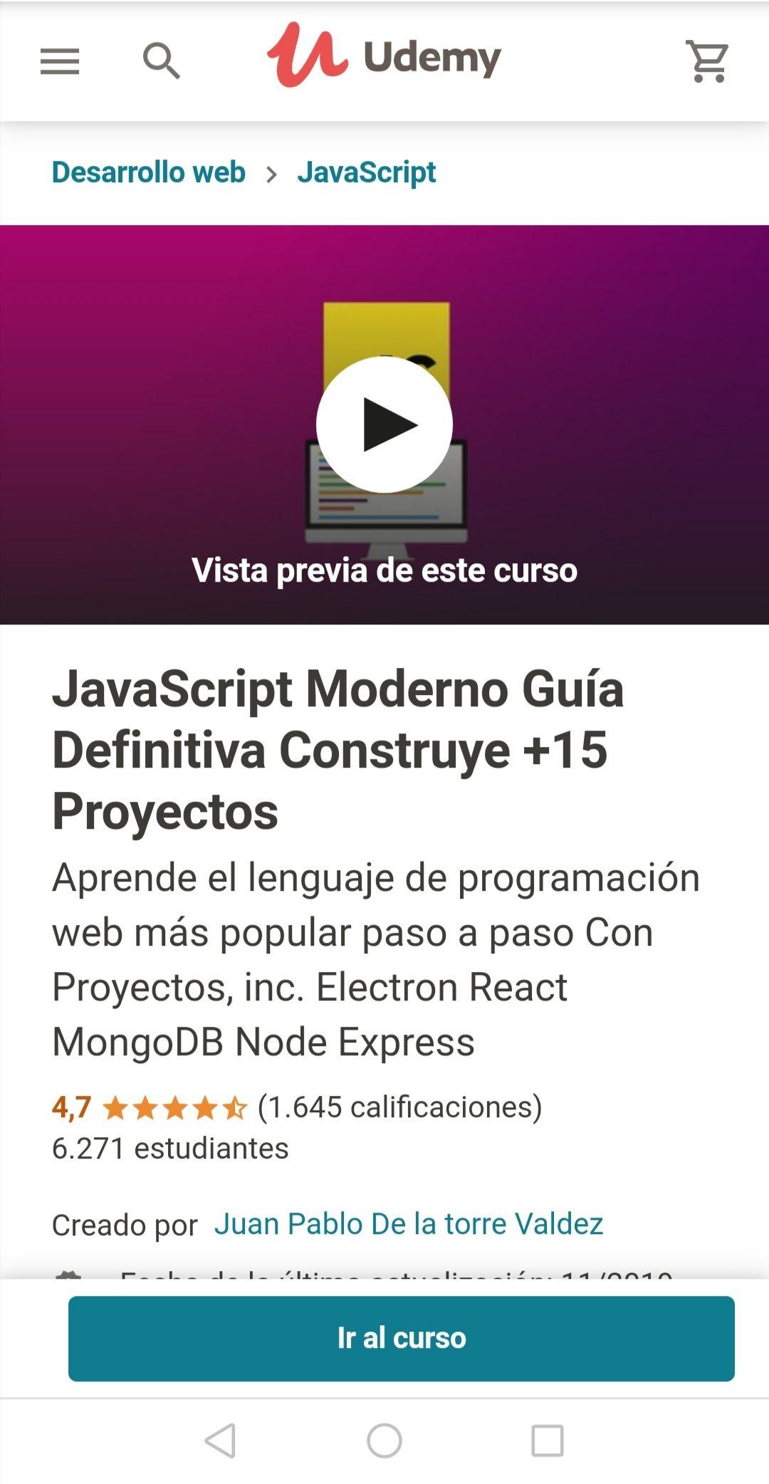 Udemy: JavaScript Moderno Guía Definitiva Construye +15 Proyectos