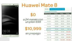 AT&T: Huawei Mate 8 solo $999 en plan 539 a 24 meses