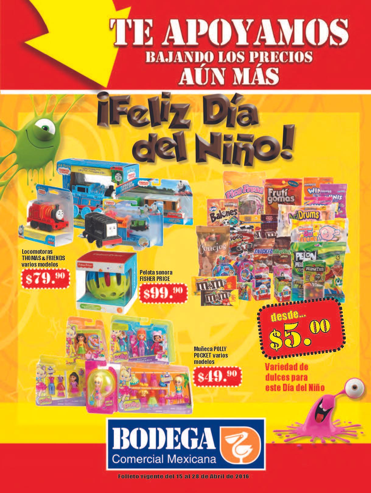 Comercial Mexicana: Folleto al 28 de Abril