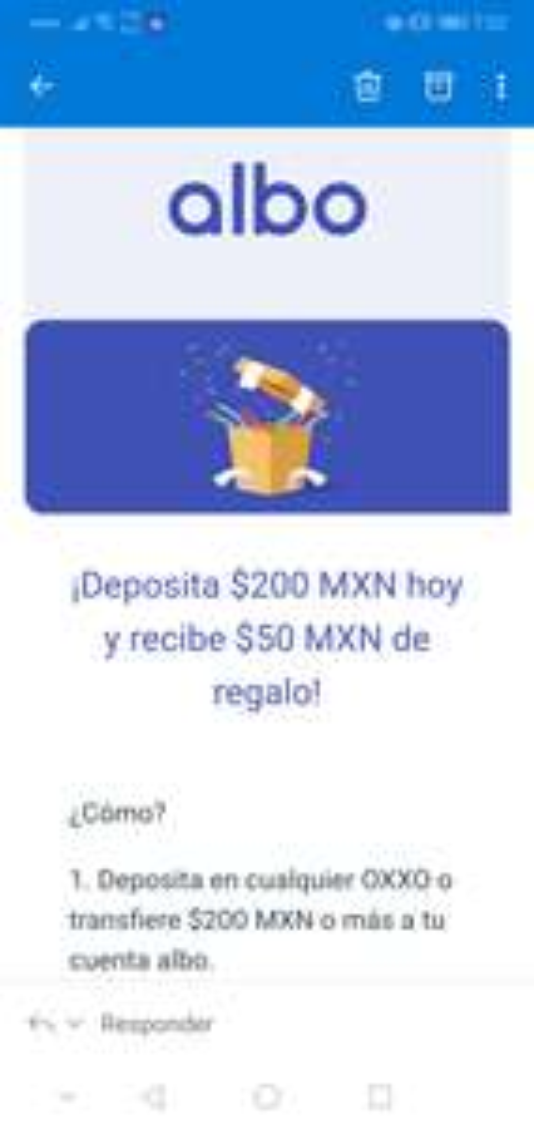 Albo: Deposita $200 o más y recibe $50 de regalo (usuarios seleccionados)