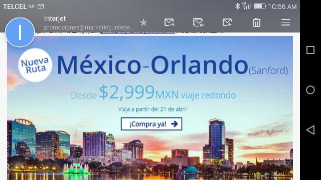 Interjet: vuelo redondo de CDMX a Orlando por $2,999