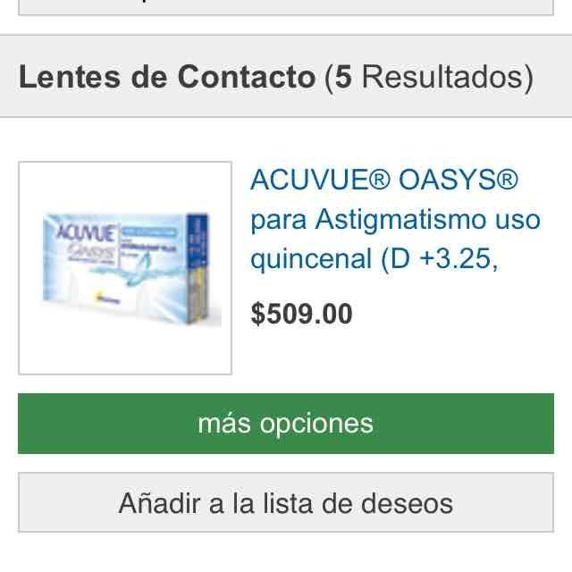 Costco en línea: oferta en lentes de contacto Acuvue