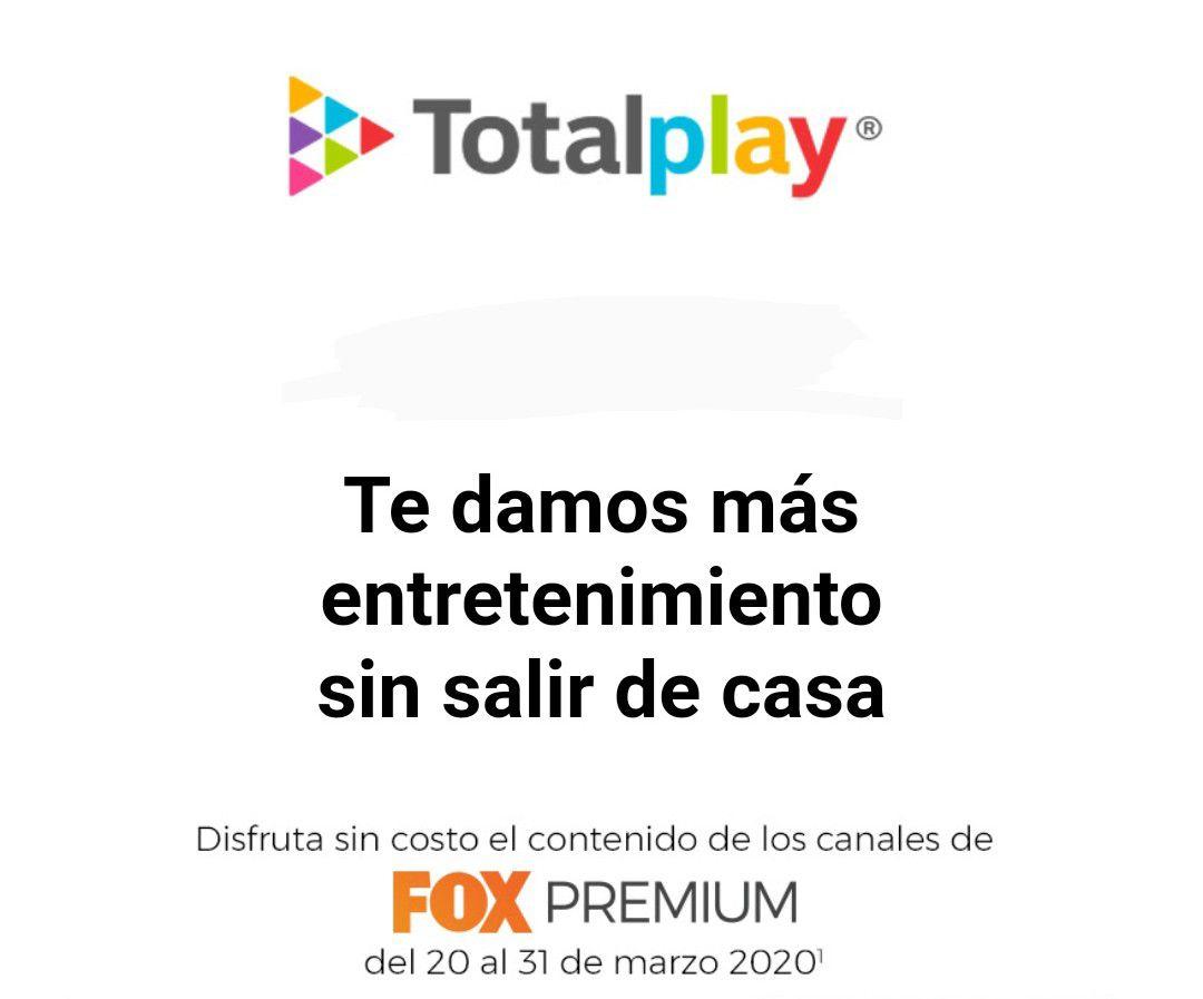 Totalplay: Fox Premium Gratis