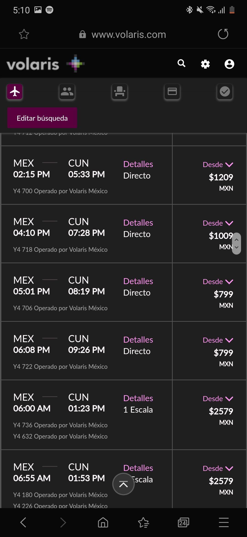 Volaris: Vuelos redondos (basico) de ciudad de México a Cancún desde $799