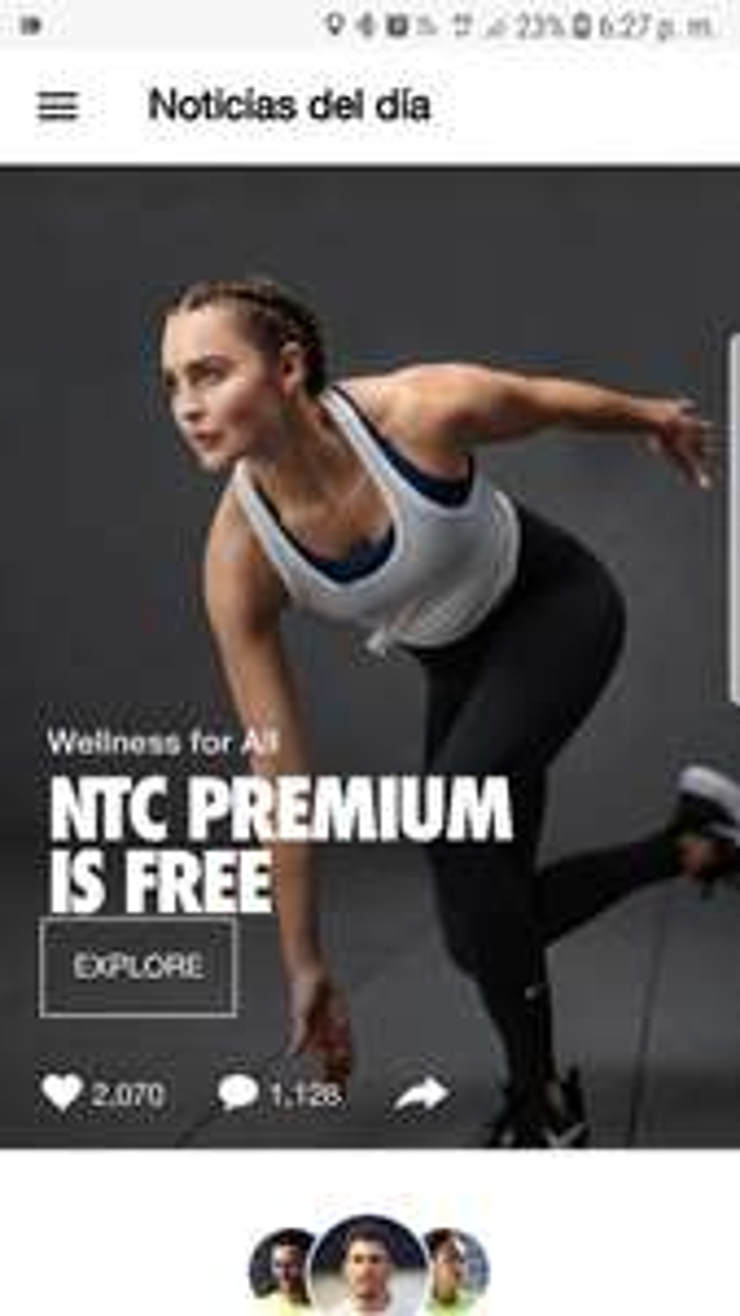 Aplicación Nike Training Club Premium Gratis