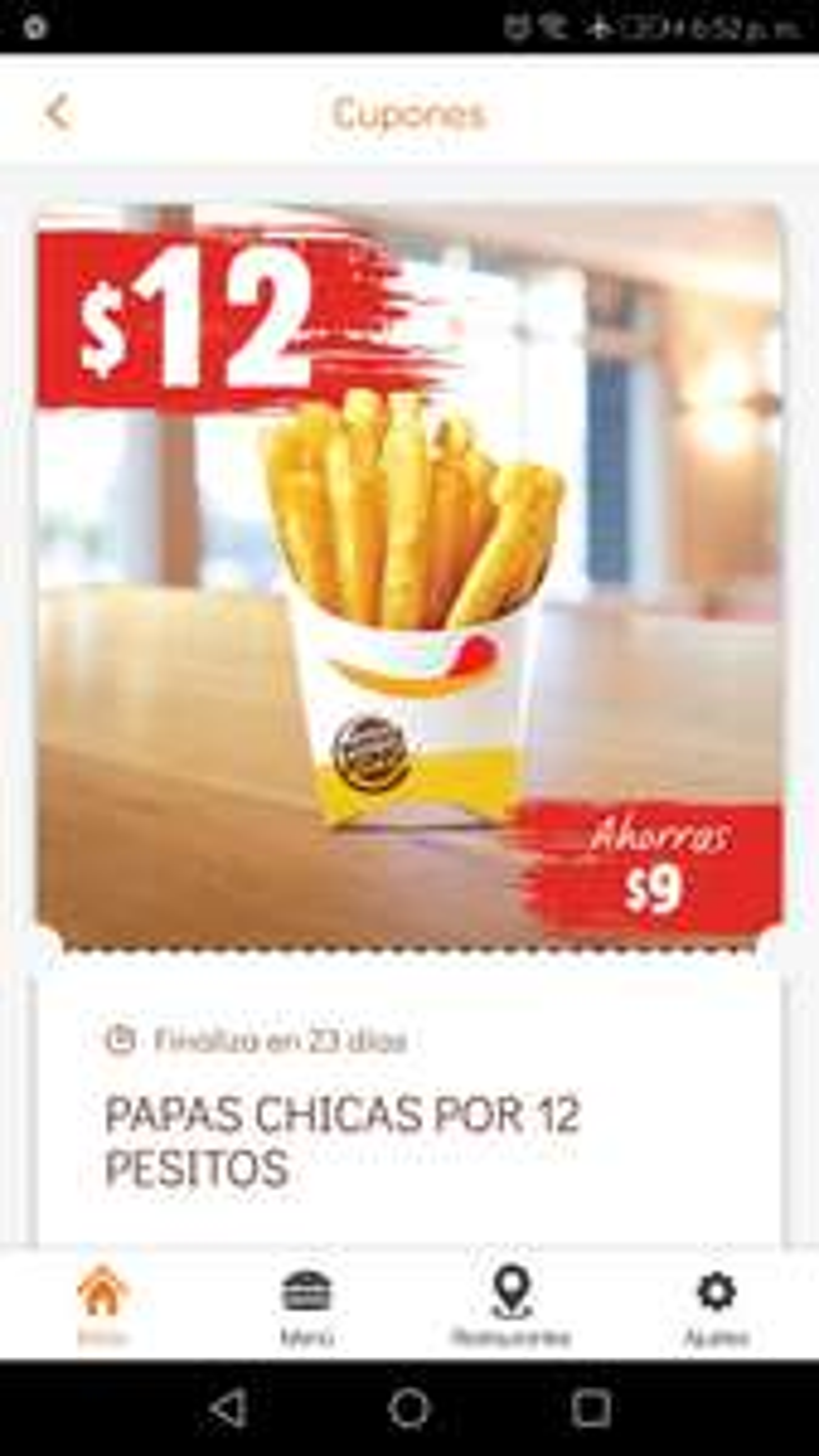 Burger King App: Nuevos cupones