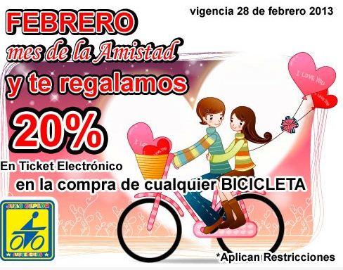 Julio Cepeda: 20% en dinero electrónico en bicicletas