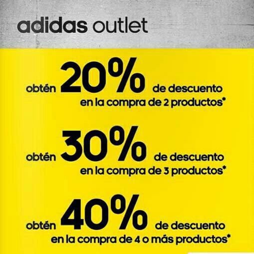 Adidas Outlet Insurgentes Sur CDMX: descuento escalonado hasta 40%